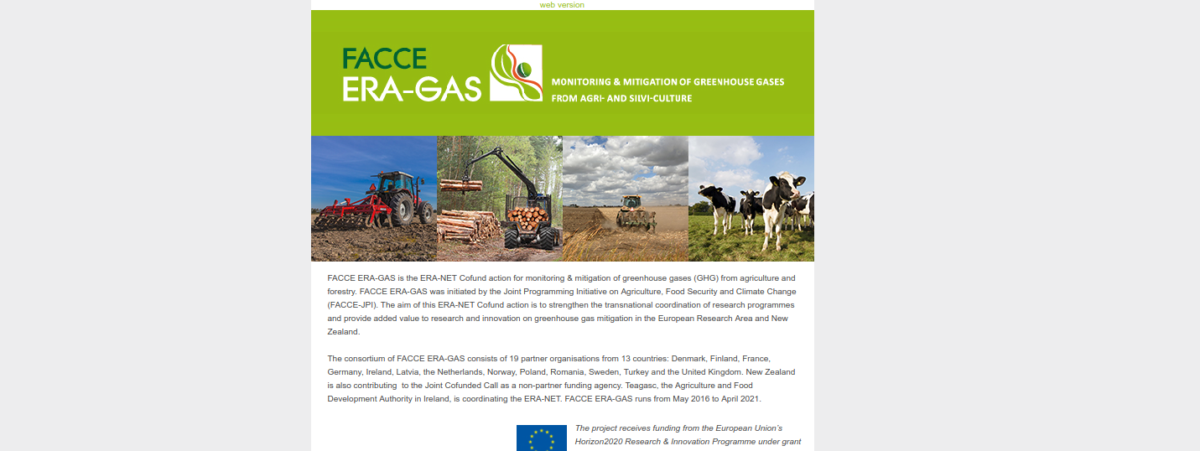FACCE ERA-GAS Newsletter March 2018
