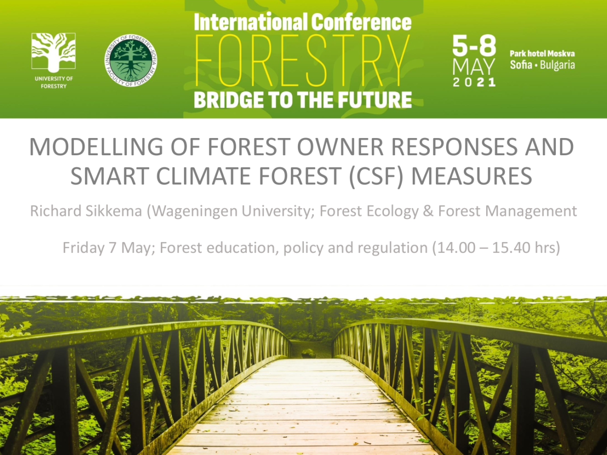 Modelling of forest owner responses and smart climate forest (CSF) measures